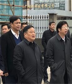 湖州市市长钱三雄调研浙江浦森新开工项目建设情况